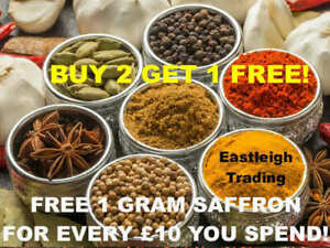 99P *BUY 2 GET 1 FREE* INDIAN SPICES SEEDS SEASONINGS HERBS SAFFRON CURRY MASALA