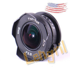 US 8mm F3.8 Black CCTV Lens For Micro Four Thirds Mount For Olympus Panasonic G7