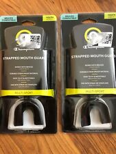 Lot Of 2 - C9 Champion Youth 11-Strapped Mouthguard - Black - Braces Compatible