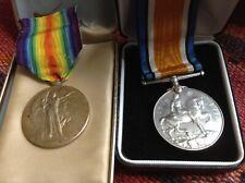 WW1 Medals British War & Victory Medal for243661 Pte. G. L. Lichfield. Lan. Fus