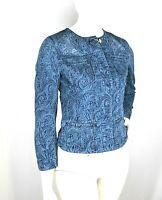 Giacca Jeans Donna Giubbotto KAOS Made in Italy H396 Giubbino Blu Tg S veste +