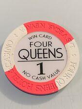 New listing Four Queens Win Card $1 Ncv Casino Chip Las Vegas Nevada 3.99 Shipping