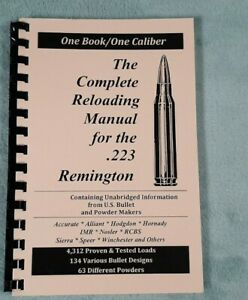 223 Remington .223 Rem  Reloading Manual LOADBOOKS  USA Loadbook 2016 Version