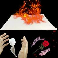 10Pcs/Set White Fire Paper Stage Magic Tricks Accessory Magician For Adult R0X1