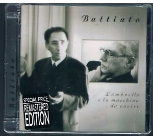 FRANCO BATTIATO L'OMBRELLO E LA MACCHINA DA CUCIRE CD REMASTERED SIGILLATO!!!