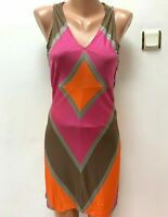 MISSONI Made IN Italy SIZE S/M Dress Multicoloured Fitted Geometric
