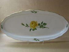 Meissen 020610 - 00300 Gelbe Rose, Mitte, Goldrand Platte oval