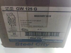 LUTRON 241218 THOMAS & BETTS GW125G MASONRY BOX