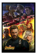 Framed Avengers Infinity War Captain America Poster New