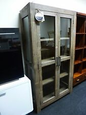 New Chunky Contemporary Reclaimed Wood Glazed Display Unit *Furniture Store*