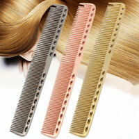 Pro Barbers Hairdressing Hair Cutting Long Comb U-shaped Space Aluminum Comb