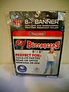 NFL PARTY ANIMAL BUCCANEERS 8' X 2' BANNER HEAVYWEIGHT NYLON SIGN GROMMETS