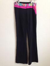 Girls Ivivva by Lululemon Pants Black Pink Multicolor Reversible size 14