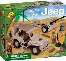 COBI - Small Army Vehicle ~ Willys MB Jeep & Cannon 180 Piece Block Set #NEW