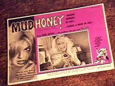 MUDHONEY LOBBY CARD #3 RUSS MEYER LORNA MAITLAND '65
