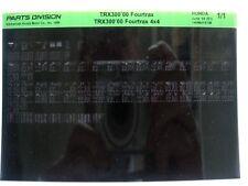 Honda TRX300 Fourtrax 2000 Parts List Catalog Microfiche a547
