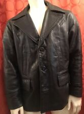 Vintage 1970s Ripples Made In Usa Leather Motorcycle Jacket Barely Used