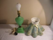 Vintage Jadeite Table Lamp w/Matching Shade