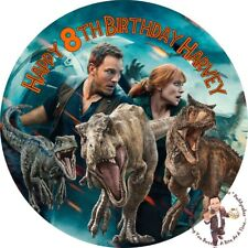 "Jurassic World Fallen Kingdom 8"" Round Premium IcingSheet Customised Cake topper"