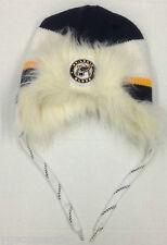 NHL St Louis Blues Reebok Knit Fleece Lined Fur Trim Hat Cap NEW SEE DESCRIPTION