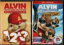 Alvin and the Chipmunks 1 2 3 4 DVD 1-4 Complete Collection 4 Disc Set Brand NEW