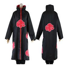 More details for anime naruto cosplay costume akatsuki ninja wind coat uniform cloak halloween