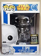 Funko Pop E-3PO # 46 Chrome Star Wars Bobble Head 2015 Con Excl Damaged Box