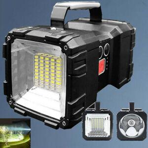 Super Bright LED Searchlight Handheld Spotlight Rechargeable Flashlight Portable