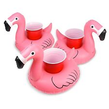 GoFloats Inflatable Floatmingo Drink Holder (3 Pack), Float Your Drinks in Style