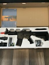 New listing ASG DS4 CQB M4 Airsoft LPAEG w/ Red Dot & Tactical Flashlight