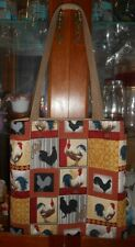 Rooster Tote Bag Chicken Country Farm Book, Lunch, Knitting, Gift Handmade Purse