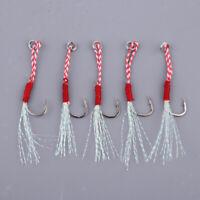 5 Pezzi Assist Jig Fishing Hooks Ami da Pesca Accessori di Pesca Intrecciato