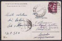 DR Mi Nr. 623 EF auf Ausland AK Berlin - Rumänien 12.07.1936