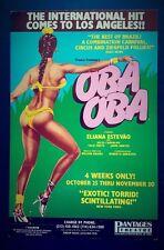 OBA OBA Promo Musical/Theatre Poster 1988 LA Eliana Estevao BRAZIL Carnival Rio