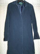 Lauren Ralph Lauren Long Knee Length Navy Jacket Barn Coat Medium Petite MP