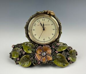 JAY STRONGWATER FLOWER & BEE CLOCK MINT WORKING CONDITION!!