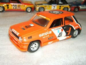 """RENAULT R5 TURBO n°41 COUPE d'EUROPE '81 """"EUROPCAR"""" GOUHIER 1/43è base solido"""