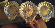 Vintage 3 Silver plated Shell Ashtrays