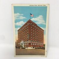 1930's Postcard Aldridge Hotel Shawnee Oklahoma Building Colortone