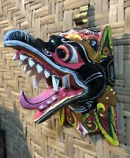 Hand Carved & Painted Garuda Masks Black