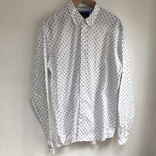 SCOTCH AND SODA Shirt Size XL Vacanza Shell Print White Long Sleeve 100% Cotton
