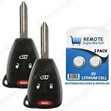 Replacement for Jeep 06-07 Commander 05-07 Grand Cherokee Remote Key Fob 4b Pair