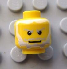 Lego Yellow Minifigure Head with Gray and White Beard Castle King NEW