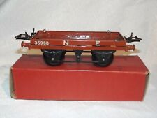 VINTAGE HORNBY TRAINS GAUGE O FLAT TRUCK R158-MECCANO LTD 1950's-BOXED-GREAT