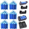 Rechargeable 18650 Batteries 3000mAh 3.7V BRC Li-ion Battery+2x Dual Charger