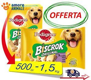 Pedigree BISCROK  ORIGINAL  500 grammi / 1,5 Kg - Biscotti snack per Cani