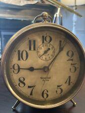 Antique Westclox Big Ben Peg-Leg Alarm Clock - With Box - Not Working