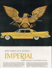 1957 CHRYSLER IMPERIAL VINTAGE ORIGINAL LAMINATED AD ART