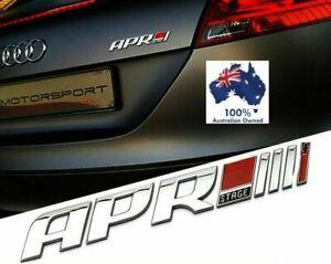CHROME APR STAGE 1 2 3 Rear Emblem Badge VW AUDI SKODA GOLF R GTI RS3