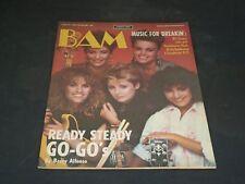 1984 JUNE 29 BAM MAGAZINE ISSUE NO. 185 - GO-GO'S COVER - SP 2921